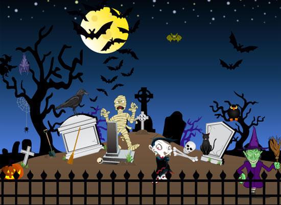 Image halloween graveyard decor